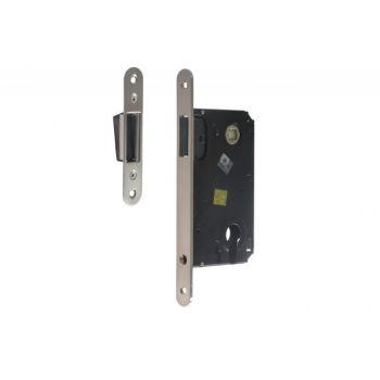 Zamek TUPAI 2868 36 PZ magnetyczny 85/50 WB z blachą zaczepową regulowaną satyna