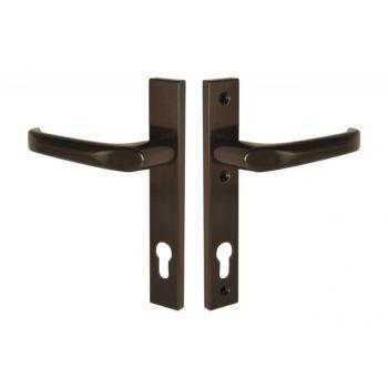 Klamka drzwiowa 13847 PVC 90/204/32 brąz prawa