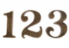 Cyfra TIFFANY 10 cm patyna tekstura