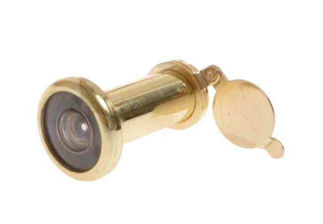 Wizjer drzwiowy fi 16 35-60 mm mosiądz kąt widzenia 200 stopni