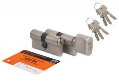 Kpl. wkładek HEKTOR 30g/35+30/35 nikiel satyna  kl.B 6 kluczy