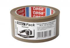 Taśma pakowa Tesa Solvent brązowa, długość 66 m, szerokość 48 mm (55263-00002-00)