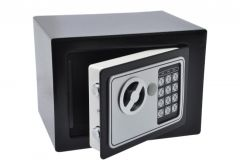 Sejf Home z zamkiem elektronicznym (230x170x170 mm), czarny