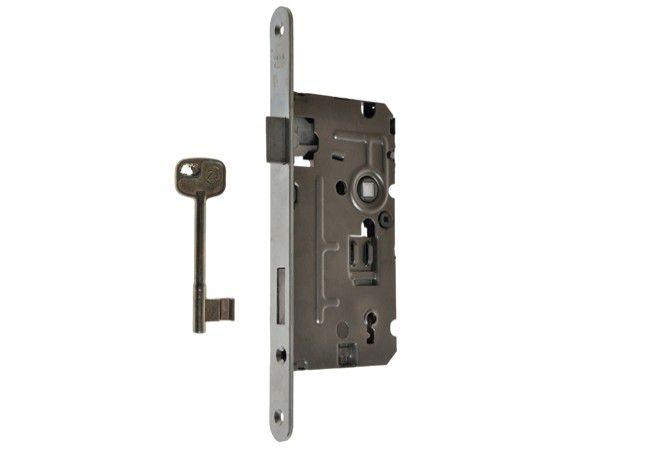 Zamek 110/TW 72/55 klucz cz. 20/235 ocynk biały prawy