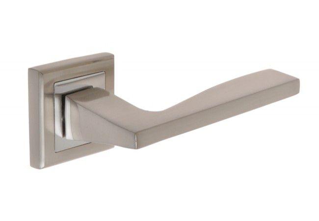 Klamka z tarczką kwadratową B-Harko ABIES nikiel-satyna/chrom