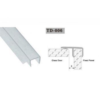 Uszczelka do kabin prysznicowych TD-006 8 mm 2,2 mb(US-HR-006)