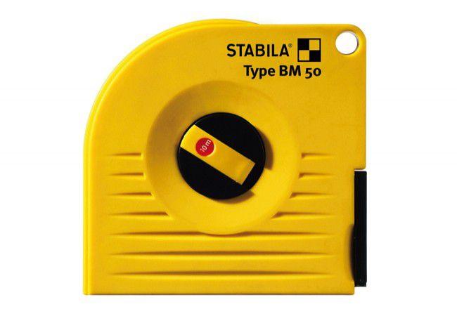 Taśma STABILA BM 50 W/10 miernicza stalowa, biała zwijana długa