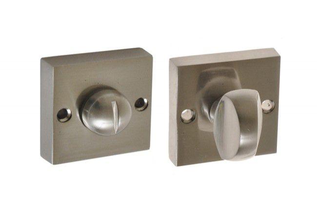 Szyld kwadratowy WC nikiel satyna (DIVA. RITA)