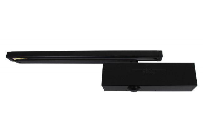 Samozamykacz GROOM GR-3500, wersja B, siła EN 3-5, z szyną ślizgową, czarny