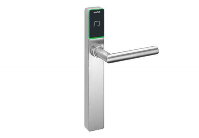 Klamka elektroniczna dormakaba C-Lever K6 pro, rozstaw 92 mm, (trzpień 8 mm, drzwi do 63 mm), karta programująca Master B w zestawie