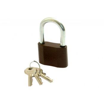Kłódka LOB żeliwna zasuwkowa KS 60, 3 klucze (małe)