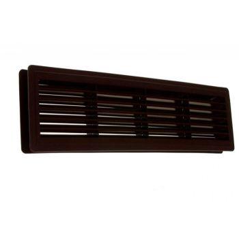 Kratka wentylacyjna drzwiowa 460x135 brązowa(max.grubość skrzydła 35 mm)
