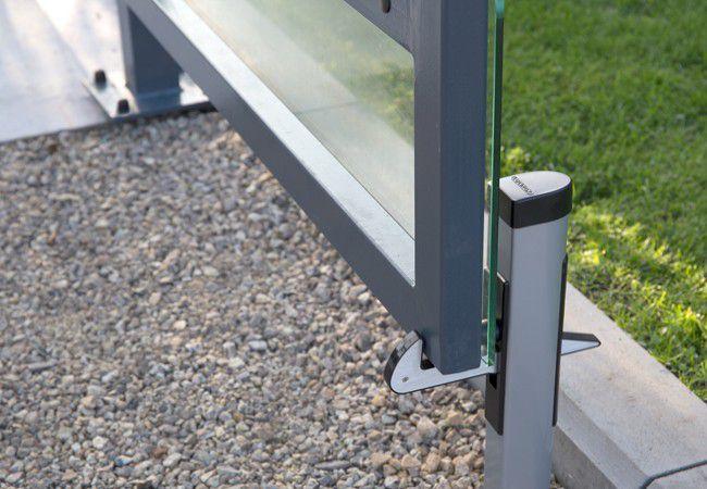 Aluminiowy chwytak dolny skrzydła bramy, wysokość 500 mm, (profil od 40 do 60 mm)