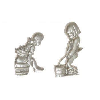 Oznaczenie WC FIGURKI satyna (dziewczynka/chłopiec) wys. 55 mm /75 mm