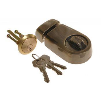 Zamek wierzchni YALE Y2T patyna mosiądz klucz nacinany