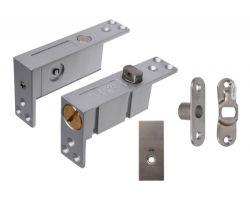 Zawias JNF wpuszczany typu pivot do drzwi drewnianych dwukierunkowych góra-dół  (35-45mm, do 900 mm, do 45 kg)
