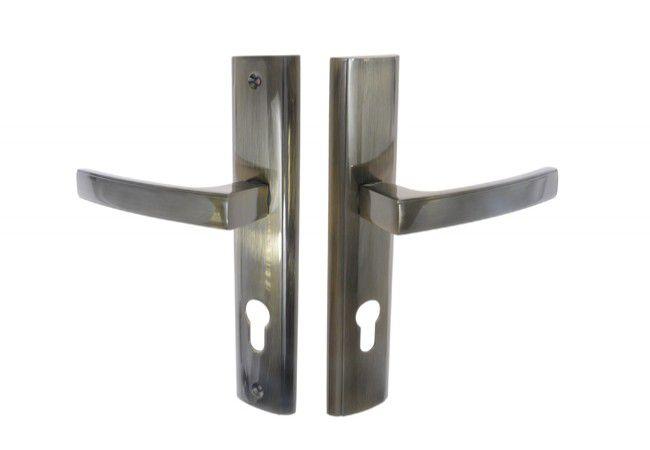 Klamka drzwiowa wejściowa INFINITY HERMES KHR 412W 72 wkład patyna lewa
