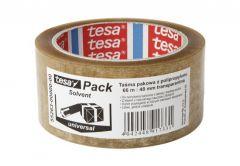 Taśma pakowa Tesa Solvent przeźroczysta, długość 66 m, szerokość 48 mm (55263-00000-00)