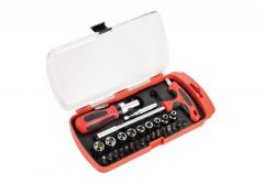 Zestaw bitów i kluczy nasadowych, 29 elementów MHA01016
