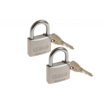 2 Kłódki Abus titalium 40 mm na jeden klucz, 3 klucze w kpl 727TI/40