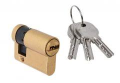 Wkładka bębenkowa DORMA DEC 260 10/30, mosiądz,  3 klucze, (atest kl. 5.1 B)