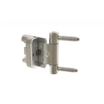Zawias BAKA 2D20 20 mm ocynk srebrny (do drzwi z uszczelką w ościeżnicy), drzwi przylgowe