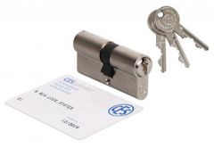 Wkładka bębenkowa CES PSM 35/60 nikiel, atest kl. 6.D, 3 klucze nacinane
