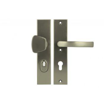 Pochwyt-klamka Axa ODIN 72 WB klasa 3 z zabezpieczeniem wkładki FLEX (p.poż.), kolor  F9 (gr.drzwi 74-83 mm)