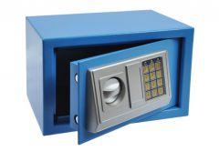 Sejf Office z zamkiem elektronicznym (310x200x200 mm), niebieski