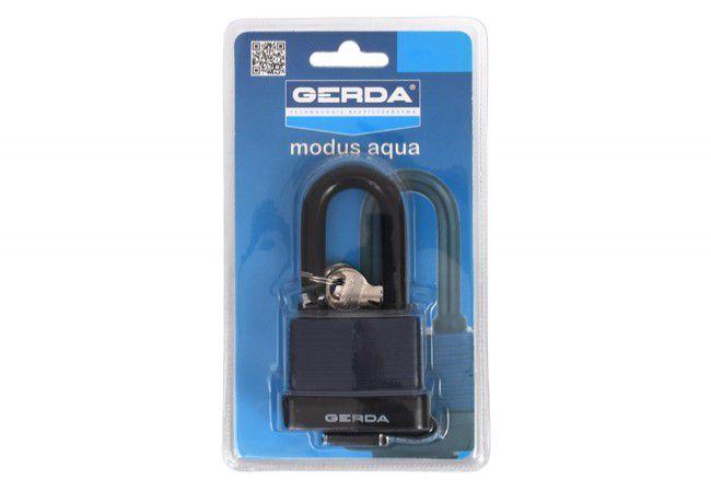Kłódka GERDA Modus Aqua 45 mm z wydłużonym pałąkiem 60mm, blister