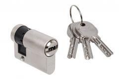 Wkładka bębenkowa DORMA DEC 260 10/40, nikiel,  3 klucze, (atest kl. 5.1 B)