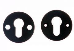 Szyld okrągły tworzywo wkład czarny