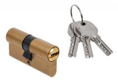 Wkładka bębenkowa DORMA DEC 260 30/30, mosiądz,  3 klucze, (atest kl. 5.1 B)