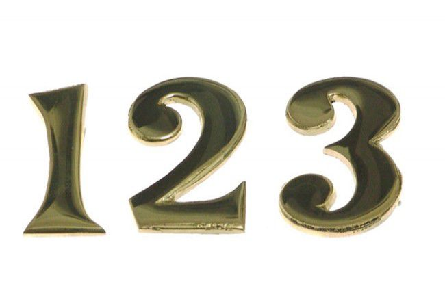 Cyfry mosiężne samoprzylepne 5 cm