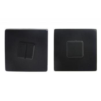 Tarczka drzwiowa T400 WC czarna do klamek Elliot