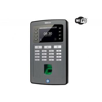 System rejestracji czasu pracy Safescan TA-8025 na odcisk palca, podłączenie LAN lub WiFi, wyjście na elektrozaczep
