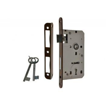 Zamek wpuszczany 72/50 klucz, z dźwignią i 2 kluczami
