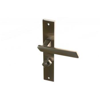 Klamka drzwiowa BELLA 72 WC nikiel-chrom