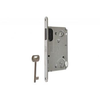 Zamek BONAITI B-TWIN wpuszczany magnetyczny 90/50 BB-klucz chrom satyna