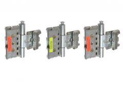 Zawias BAKA PROTECT 3D MSTS z zabezpieczeniem ocynk (3szt.) (do drzwi z uszczelką w ościeżnicy), drzwi przylgowe