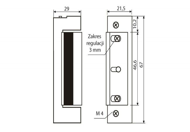Zamek elektromagnetyczny JiS 1740/1743  12V AC/DC z blokadą i pamięcią wewnętrzną(ZP-LO-202)