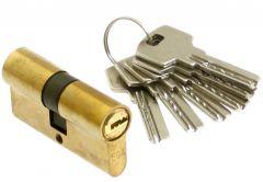 Wkładka bębenkowa 60 mm mosiężna nawiercana  6kl. (WK-LE-925  6 kluczy)