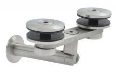 Konsola daszka szklanego 50 mm, typ 6 L-200 mm, stal nierdzewna typ AISI 304 (ściana-szkło)