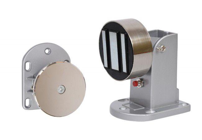 Elektromagnetyczny trzymacz drzwiowy ES60B z przyciskiem zwalniającym