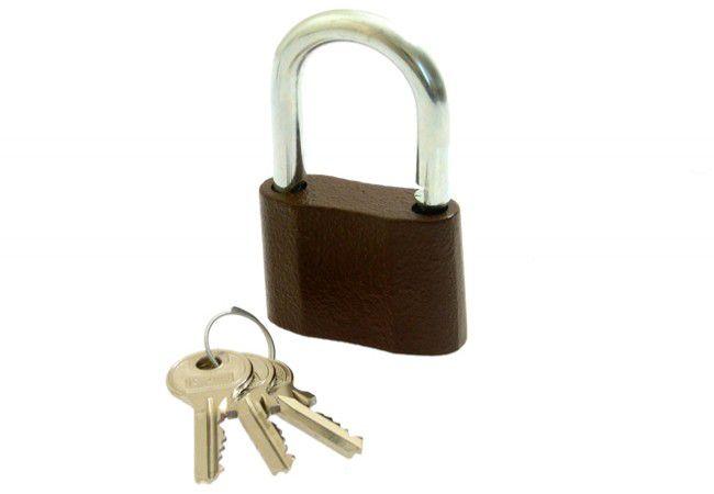 Kłódka LOB żeliwna zasuwkowa KS 50 mały klucz 3 szt.