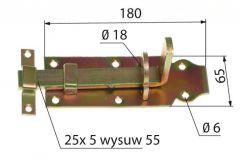 Zasuwka prosta RK-180 mm (116743)