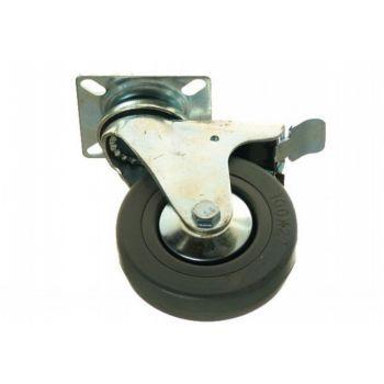 Kółko CKPA-PG 100S-MHC z szarą gumą i z hamulcem ( nośność do 60 kg )