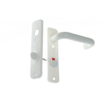 Klamka drzwiowa tworzywo bezpieczna biała 72 WC