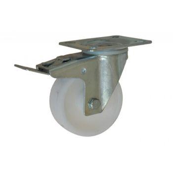 Kółko CKPW-PPB 125S-HC skrętne z hamulcem z poliamidu ( nośność do 250 kg )