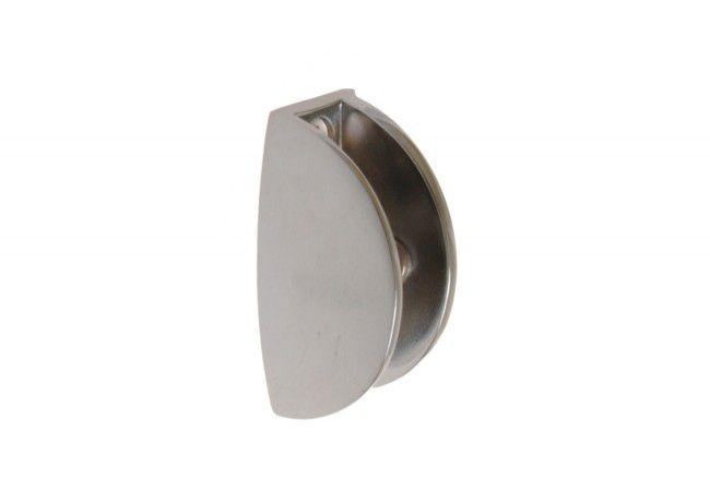 Podpórka półki szklanej 32 nikiel satyna (38x19, gr.szyby do 6 mm)